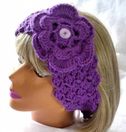 повязки на голову крючком схемы - Вязание для детей и взрослых, как...