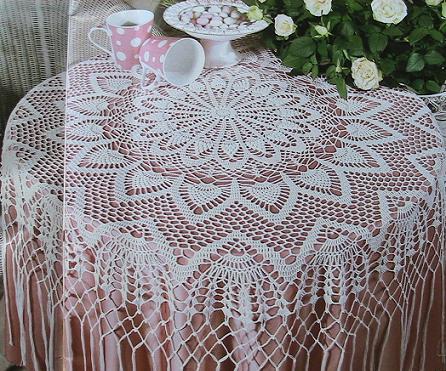 Схемы вязания скатерти