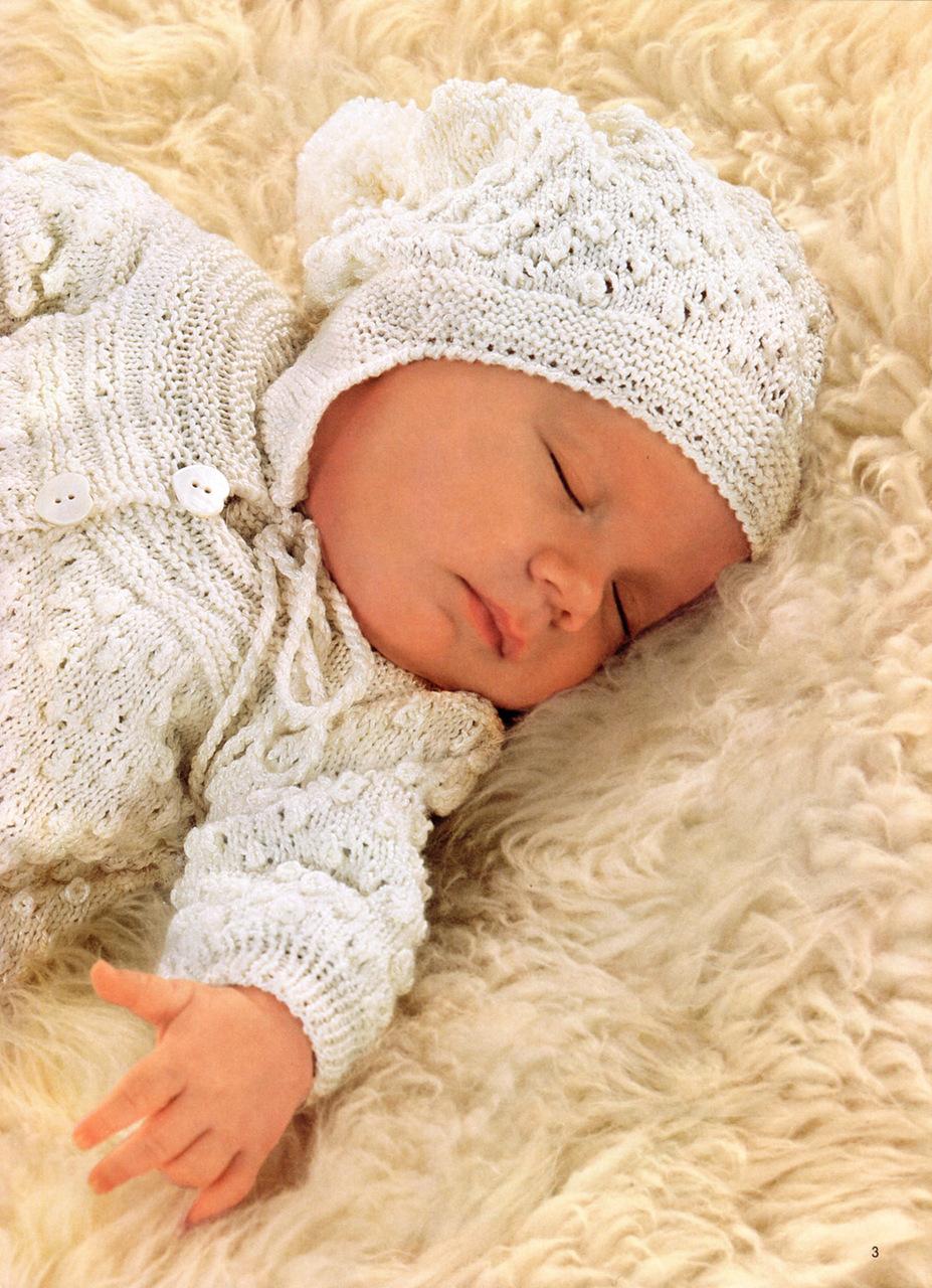 выкройки вязания для новорожденного