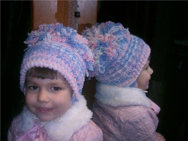 Описание вязание детской шапочки на спицах