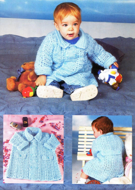 Вязание крючок детское пальто